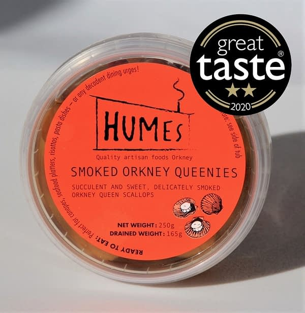 Smoked Orkney Queenies 250g tub